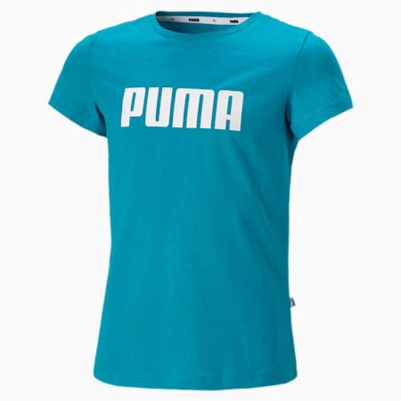 Essentials T-shirt meisjes, Caribbean Sea, small