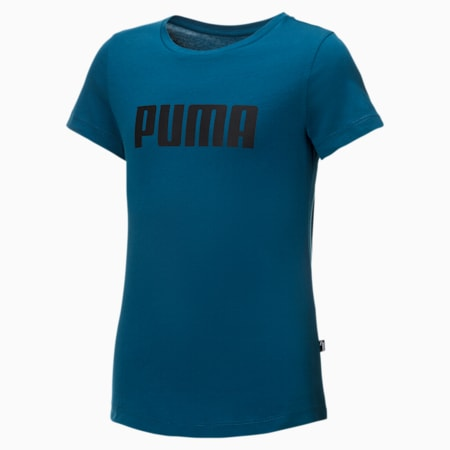 Dziewczęcy T-shirt Essentials, Digi-blue, small