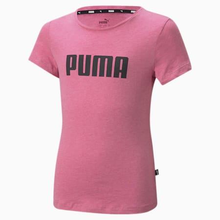 T-shirt Essentials Girls, Rose Wine-Heather, small