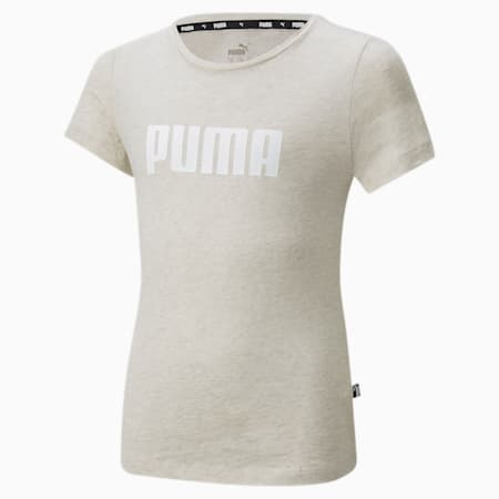 T-shirt Essentials Girls, Oatmeal-Heather, small