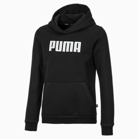 Essentials Fleece Girls' Hoodie, Cotton Black, small