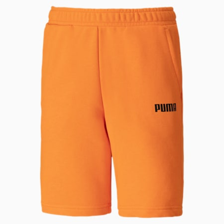 Essentials Knitted Boys' Sweat Shorts, Orange Popsicle, small