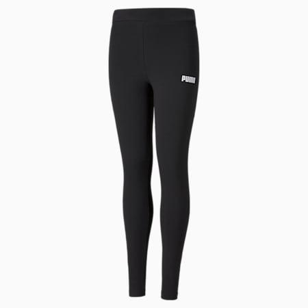 Essentials Girls' Leggings, Puma Black, small-GBR