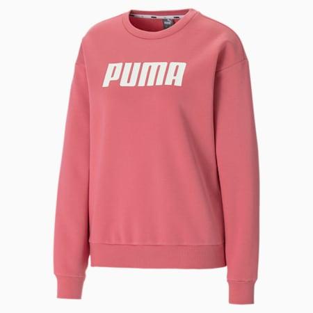 Essentials Crew Neck Fleece Women's Sweater, Rapture Rose, small