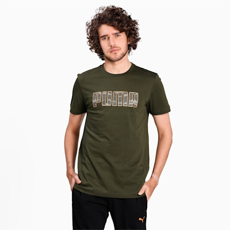 Camo Logo T-Shirt, Forest Night, small-IND
