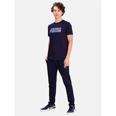 Camo Logo T-Shirt, Peacoat, small-IND