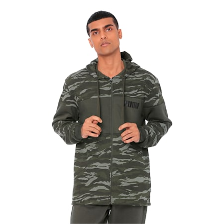 Camo FZ Hoody FL., Forest Night, small-IND
