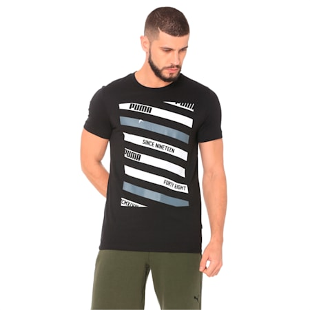 Lines Graphic, Cotton Black, small-IND