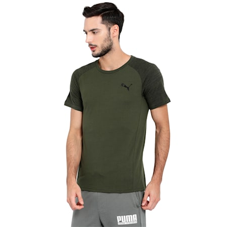 Evostripe Tee Cotton, Forest Night, small-IND