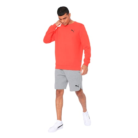 ESS Logo Crew Sweat FL, Puma Red, small-IND