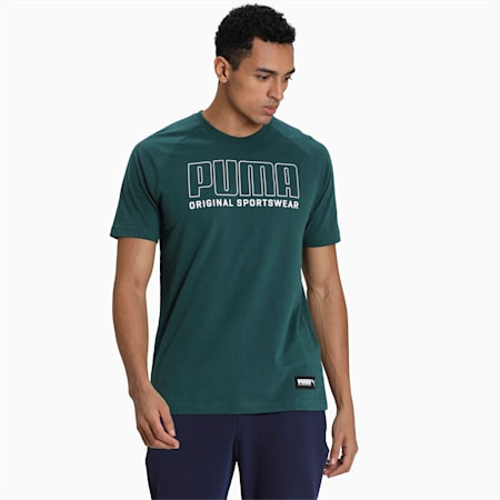 Athletics Men's Graphic T-Shirt, Ponderosa Pine, small-IND