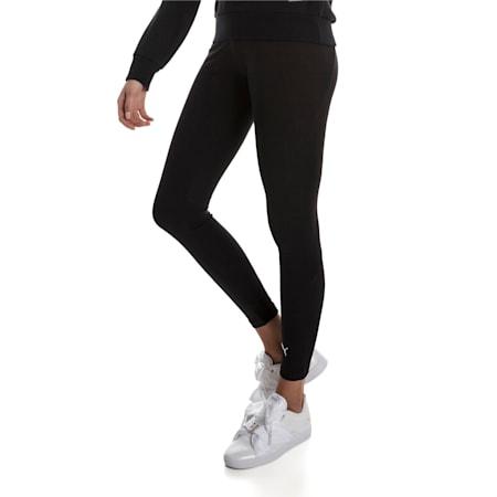 Fusion Women's Leggings, Cotton Black, small-IND