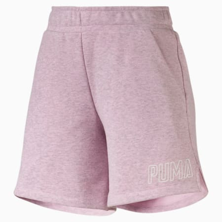 Athletics Women's Sweat Shorts, Pale Pink Heather, small-SEA