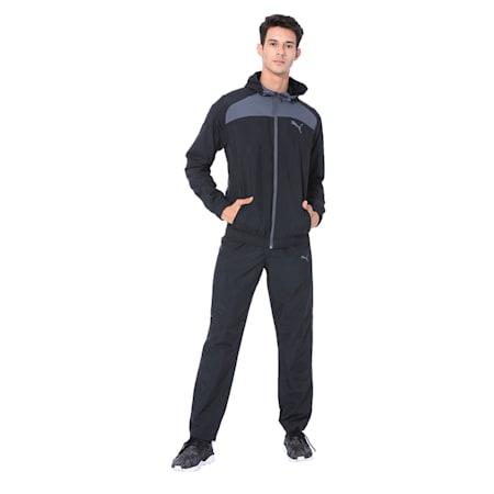 Modern Sport Hooded Suit Op. Peacoat-Pum, Puma Black-Iron Gate, small-IND