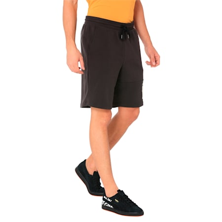"""Athletics Shorts 9"""" TR, Cotton Black-Solid, small-IND"""