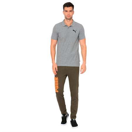 ESS Pique Polo, Medium Gray Heather-_Cat, small-IND