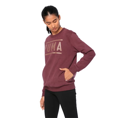 ATHLETIC Crew Sweat FL, Fig-BronzeMedal, small-IND