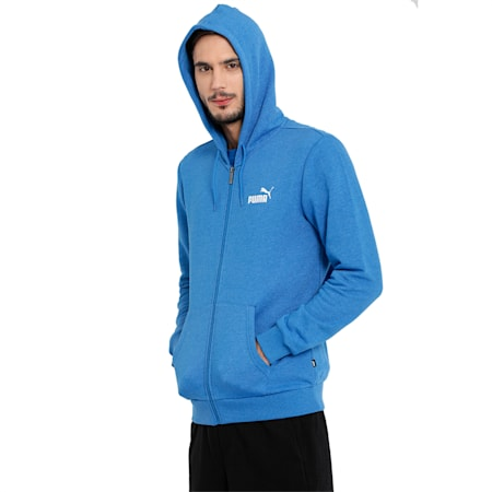 ESS+ FZ Hoody TR, Strong Blue Heather, small-IND