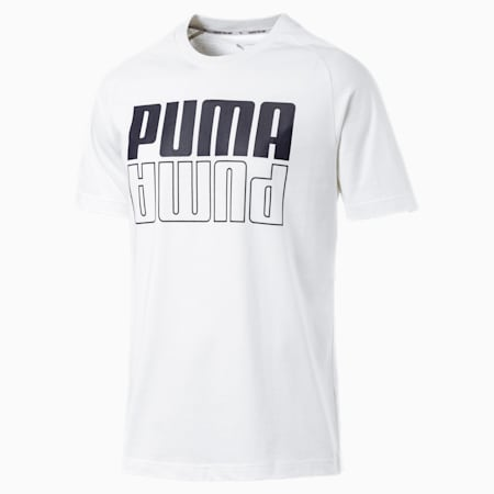 Modern Sports Logo Men's Tee, Puma White, small-IND
