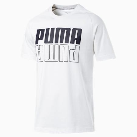 Modern Sports Logo Men's Tee, Puma White, small-SEA
