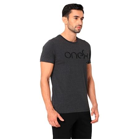 PUMA x one8 Virat Kohli Men's T-Shirt, Dark Gray Heather, small-IND