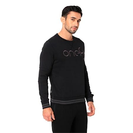 PUMA x one8 Virat Kohli Men's Crew Sweatshirt, Puma Black, small-IND