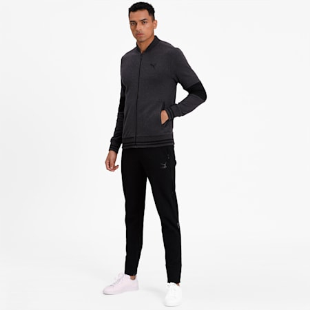 PUMA x Virat Kohli Men's Sweat Jacket, Dark Gray Heather, small-IND
