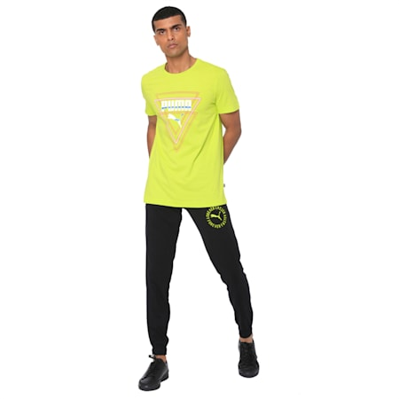 Mens Graphic Tee V, Limepunch, small-IND