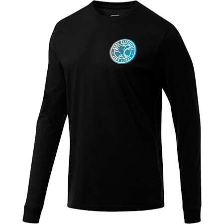 Don't Flinch Men's Long Sleeve Tee, Puma Black, small