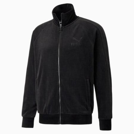 Iconic T7 Velour Men's Track Jacket, Puma Black, small-GBR