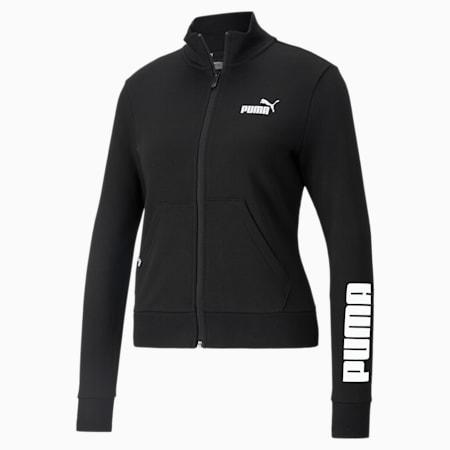 Track jacket Power Logo da donna, Puma Black, small