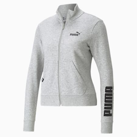 Track jacket Power Logo da donna, Light Gray Heather, small