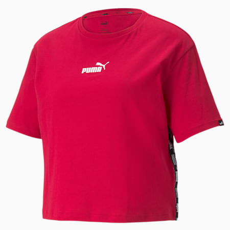 Power Cropped Women's Tee, Persian Red, small