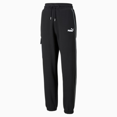 Pantalones deportivos Cargo Power para mujer, Puma Black, pequeño