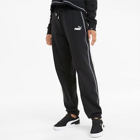 Power Women's Cargo Sweatpants, Puma Black, small-SEA