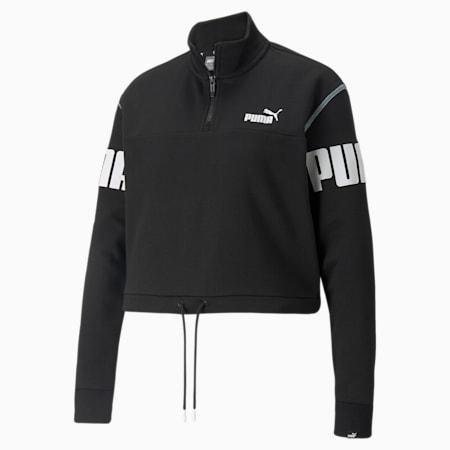 Power Half-Zip Women's Sweatshirt<br />, Puma Black, small-SEA