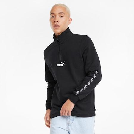 PUMA POWER Half-Zip Regular Fit Men's Sweat Shirt, Puma Black, small-IND
