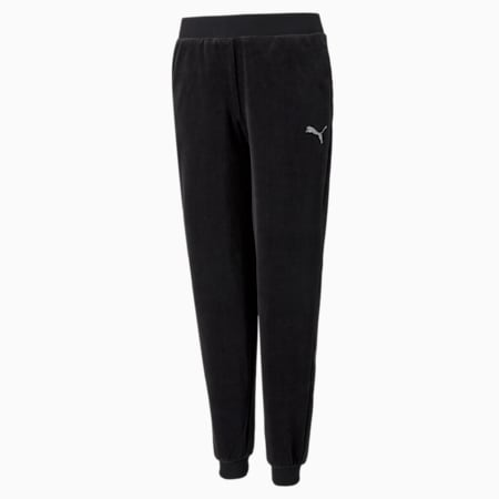 Pantalones de velour Alpha, Puma Black, pequeño