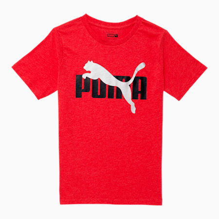 Rebel Bold Kids' Heathered Tee JR, HIGH RISK RED HEATHER, small