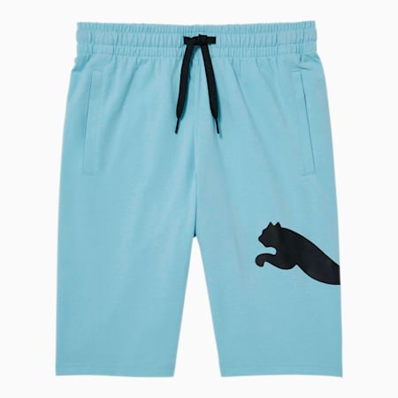 Speed Boys' Heavy Jersey Shorts JR, AQUAMARINE, small