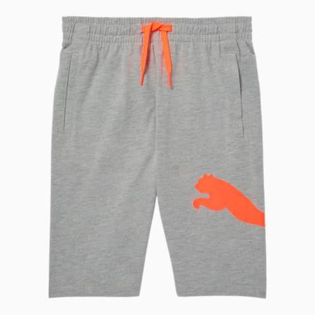 Speed Boys' Heavy Jersey Shorts JR, LT HEATHER GREY, small