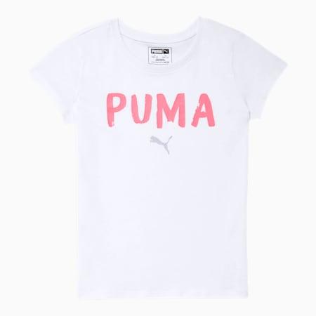 Alpha Girls' Graphic Tee JR, PUMA WHITE, small