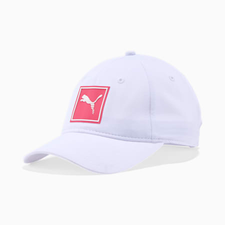 PUMA Grade Women's Performance Cap, WHITE/PINK, small