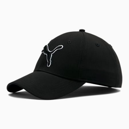 Dillon Stretchfit Cap, Black/Silver, small