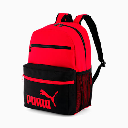 PUMA Meridian 3.0 Backpack, BLACK/RED, small