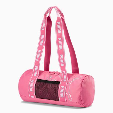 PUMA Mini Barrel Duffel Bag, Pink/White, small