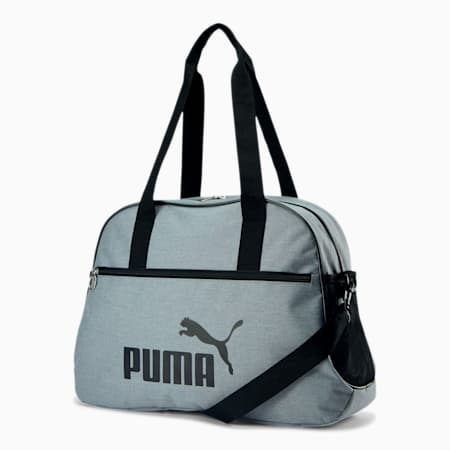 PUMA Rhythm Duffel Bag, Grey/Black, small