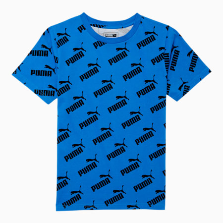 Amplified Boys' AOP Tee JR, PALACE BLUE, small
