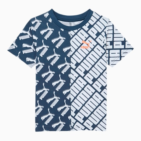 Graphic Injection AOP Infant Tee, DARK DENIM, small