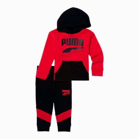 Rebel Block Hoodie + Jogger Infant + Toddler Set, HIGH RISK RED, small